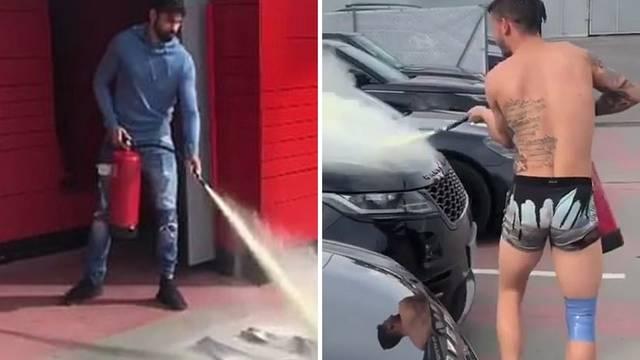 Costa, vatrogasni aparat i kaos na treningu Atletico Madrida...