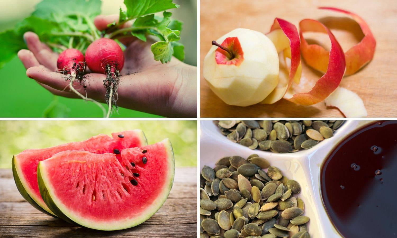 Dijelovi voća i povrća koji se često bacaju, a ne bi se trebali