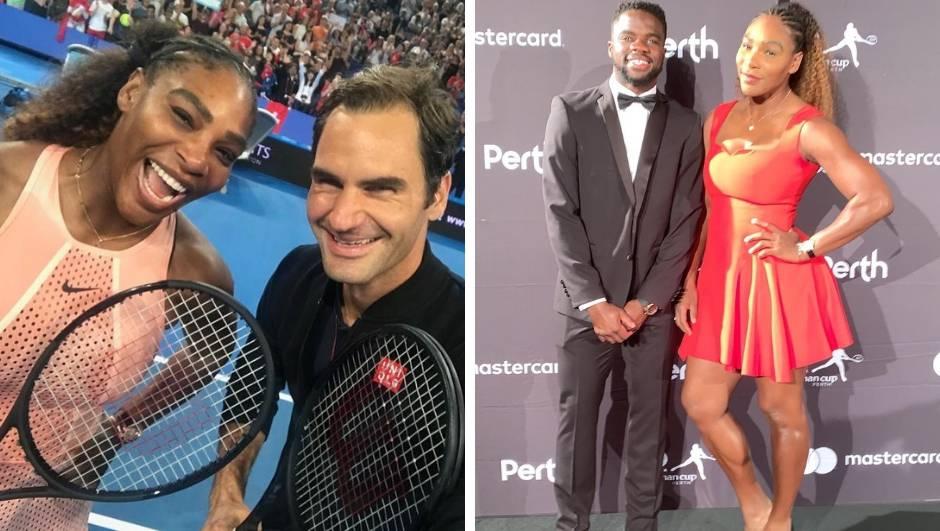 Federer i Serena zaigrali jedno protiv drugog, slavio Švicarac!