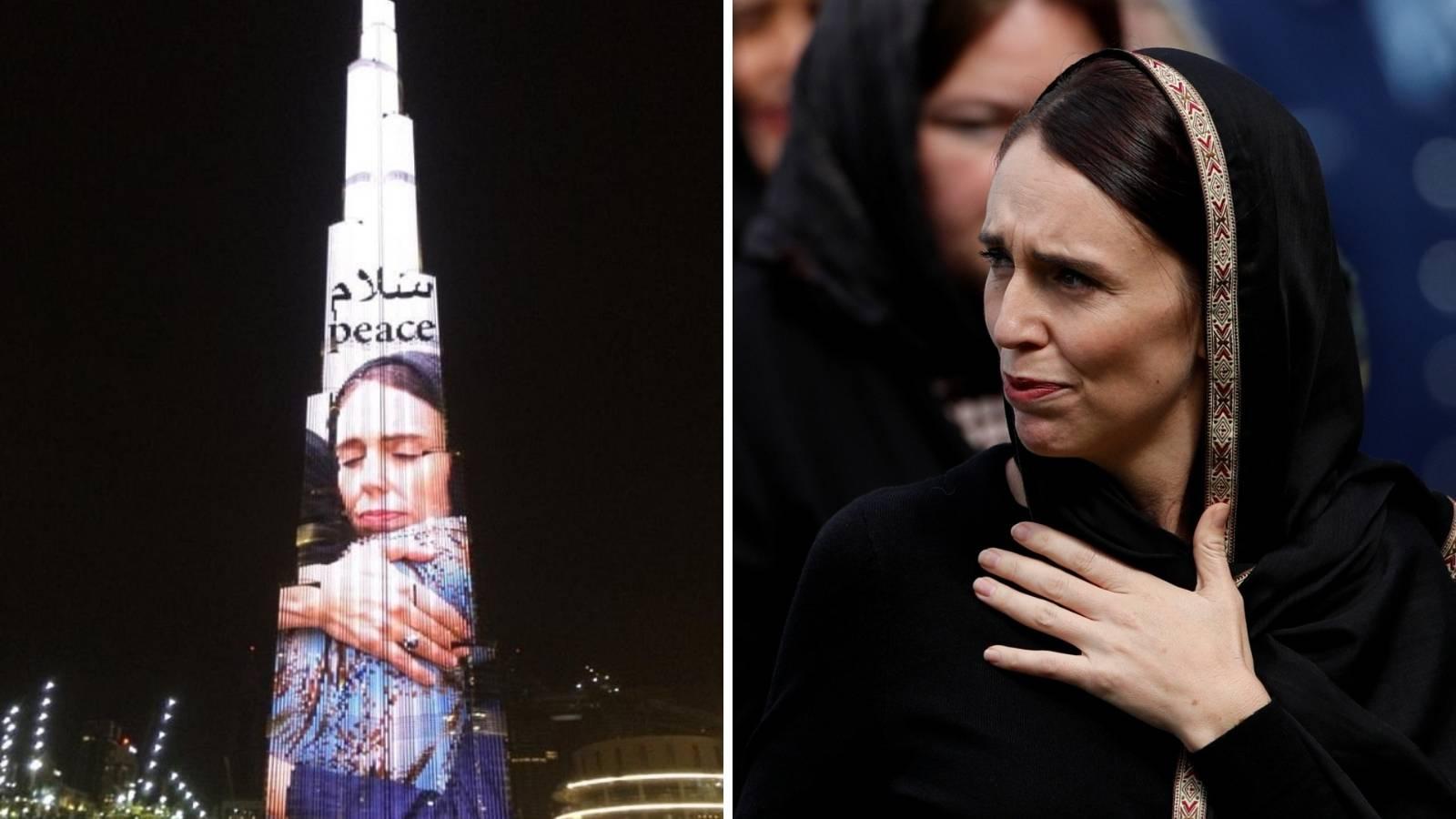 Burj Khalifa sa slikom Arden: 'Hvala joj na iskrenoj potpori'