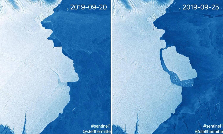 Santa leda teška 315 milijardi tona odlomila se od Antarktike