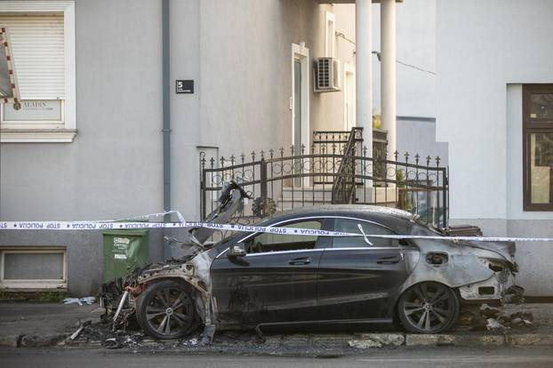 U Zagrebu izgorio automobil marke Mercedes