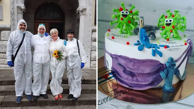 Naša svadba u skafanderima: 'Jeli smo tortu u obliku korone'