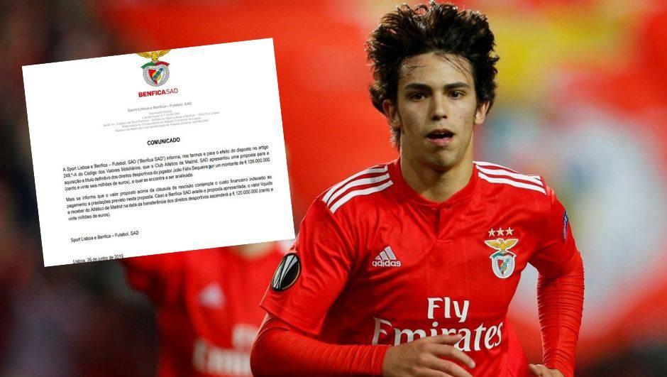 Benfica se pohvalila: Nude nam 126 milijuna eura za J. Felixa!