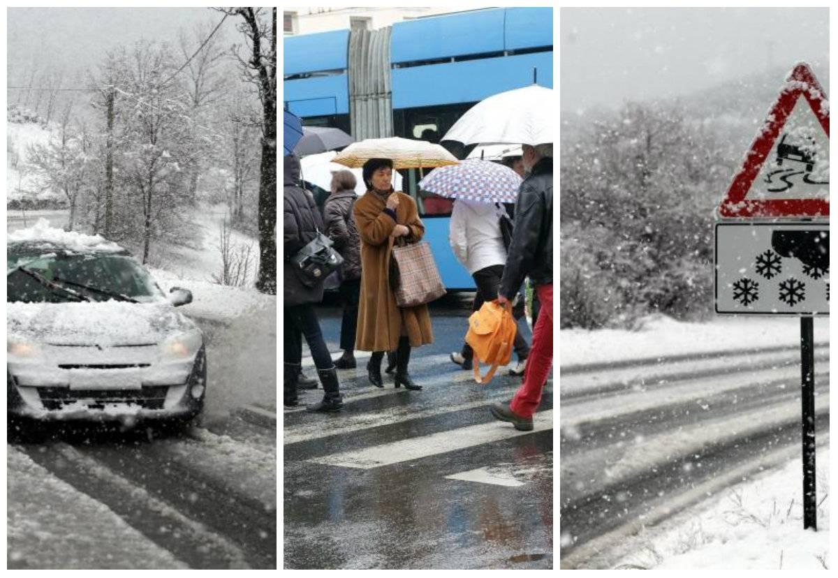 Snijeg u Gorskom kotaru i Lici,  u ostatku zemlje obilna kiša