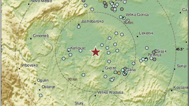 Novi potres od 3,1 Richtera, epicentar je bio kod Gline