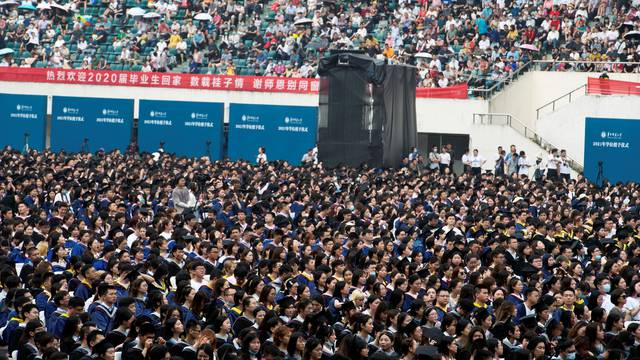 Graduation ceremony at Central China Normal University in Wuhan