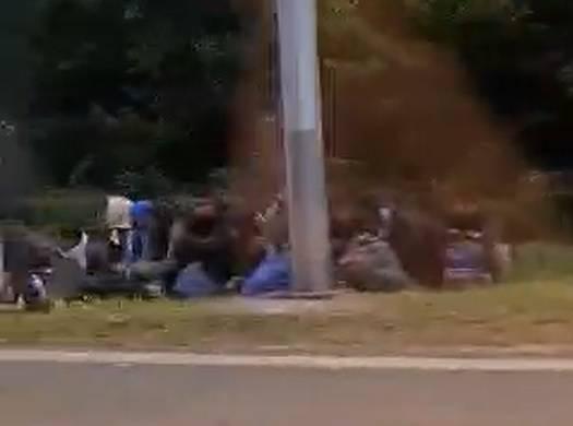Video: Vozač zbrisao, u kombiju kod Novske vozio 21 migranta