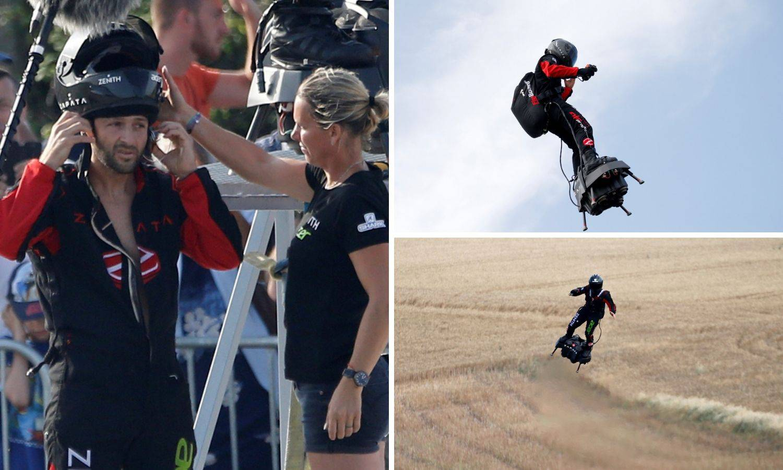 'Leteći čovjek' završio u moru: Htio je preletjeti La Manche