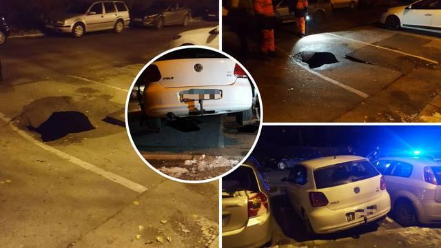 Otvorila se rupa, propao auto: 'Čuo se lom, kao rušenje zida'
