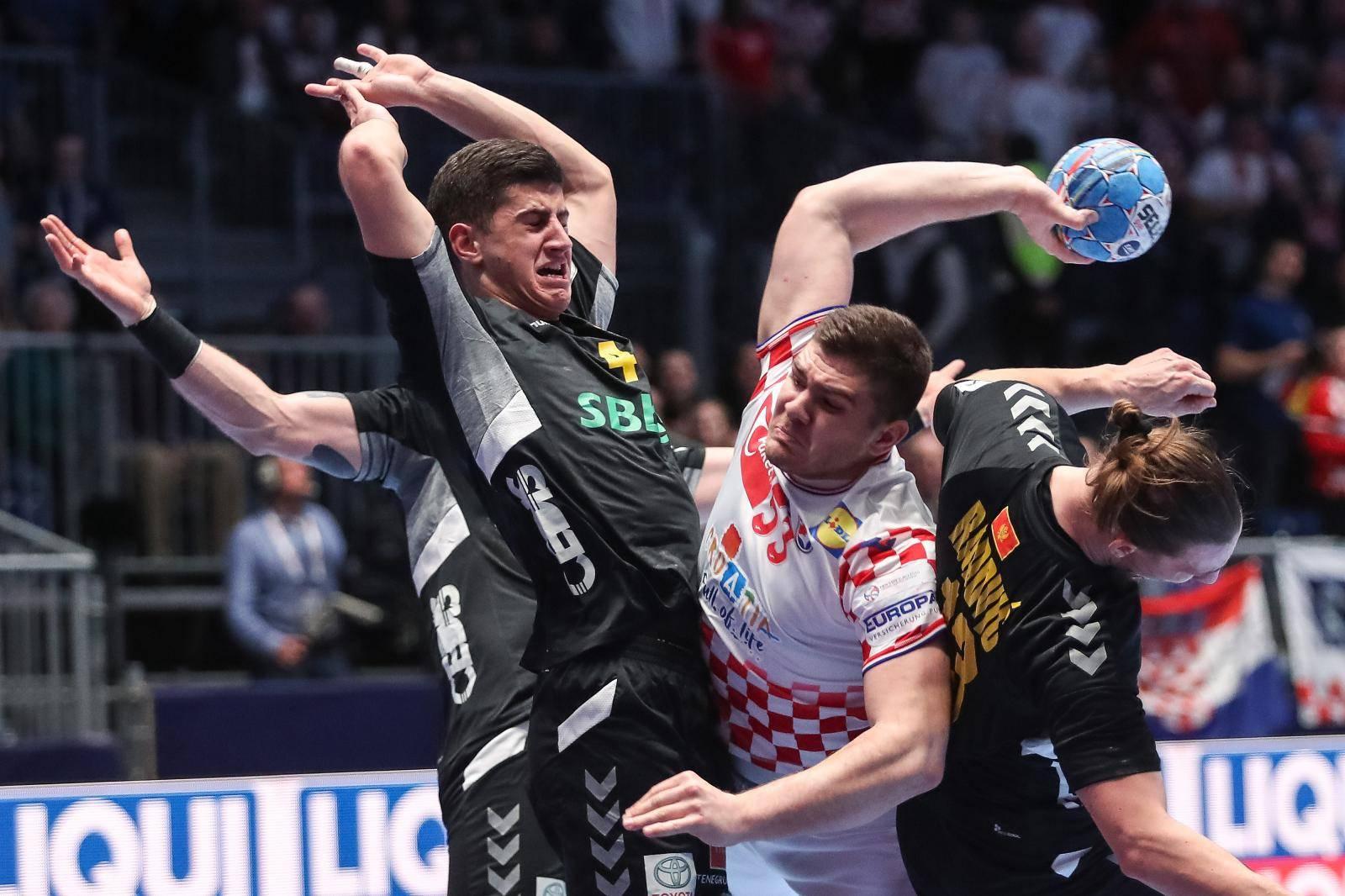 Graz: Rukometna utakmica Hrvatska - Crna Gora