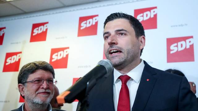 Zagreb: Izborni stožer SDP-a u središnjici na Iblerovom trgu