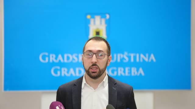 Zagreb: Konferencija Kluba zastupnika lijevog bloka uoči 39. sjednice Gradske skupštine