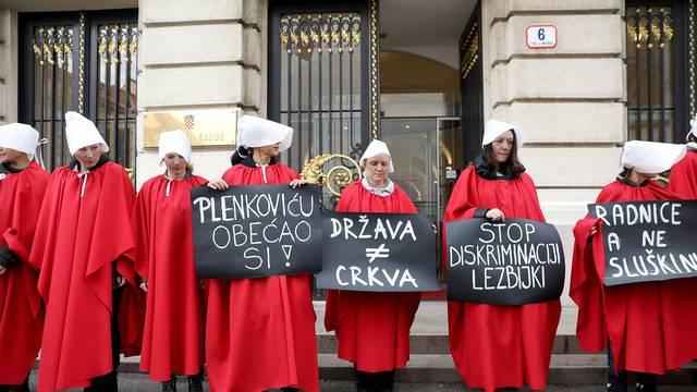 'Sluškinje' pred Saborom: Priče Željke Markić i desničara su laž