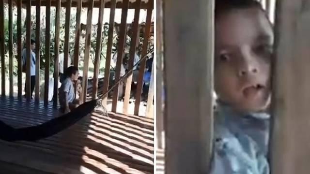 Otac svaki dan prije posla svog sina (9) stavi u - drveni kavez!