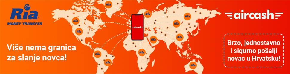 Nova usluga Aircash aplikacije - međunarodni transfer novca