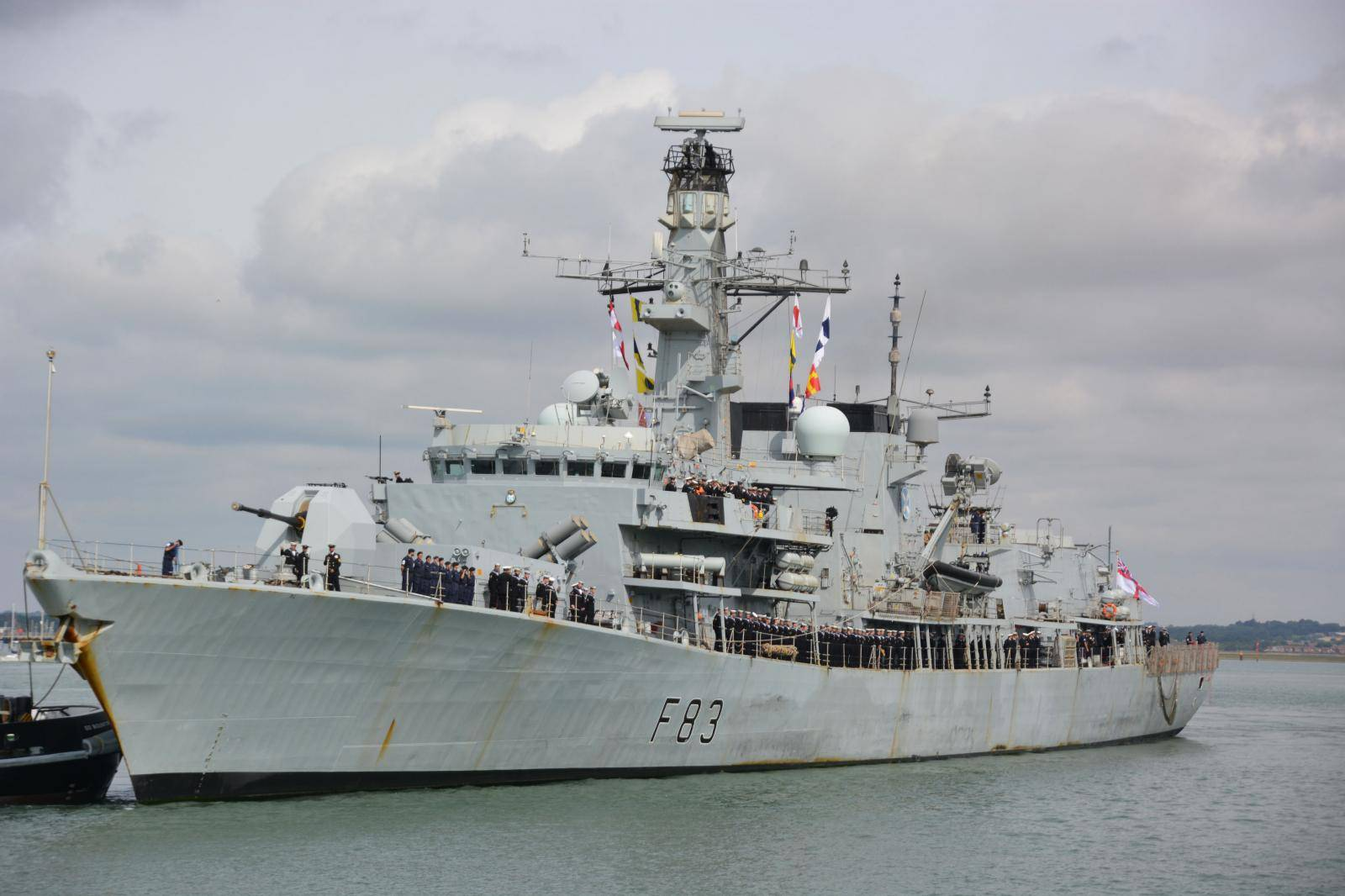 Navy ship returns to Portsmouth