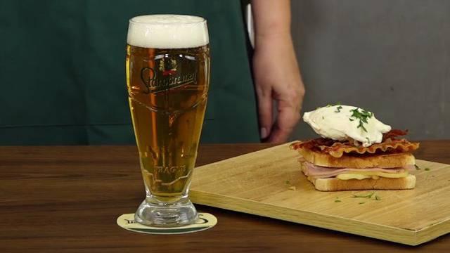 Gurmanski sendvič i jaje poširano u Staropramen pivu