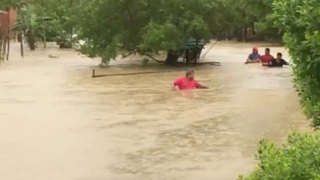 Flooding caused by Hurricane Iota in Cartagena, Colombia
