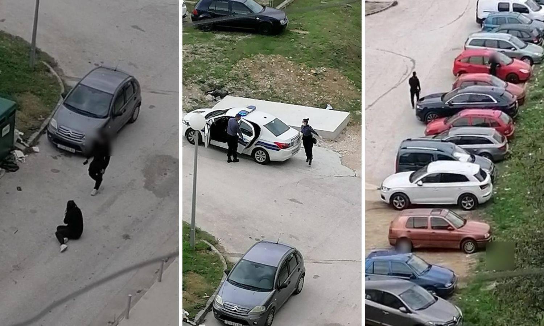 Snimka iz Splita: Uništavala mu auto i vikala, stigla je i policija