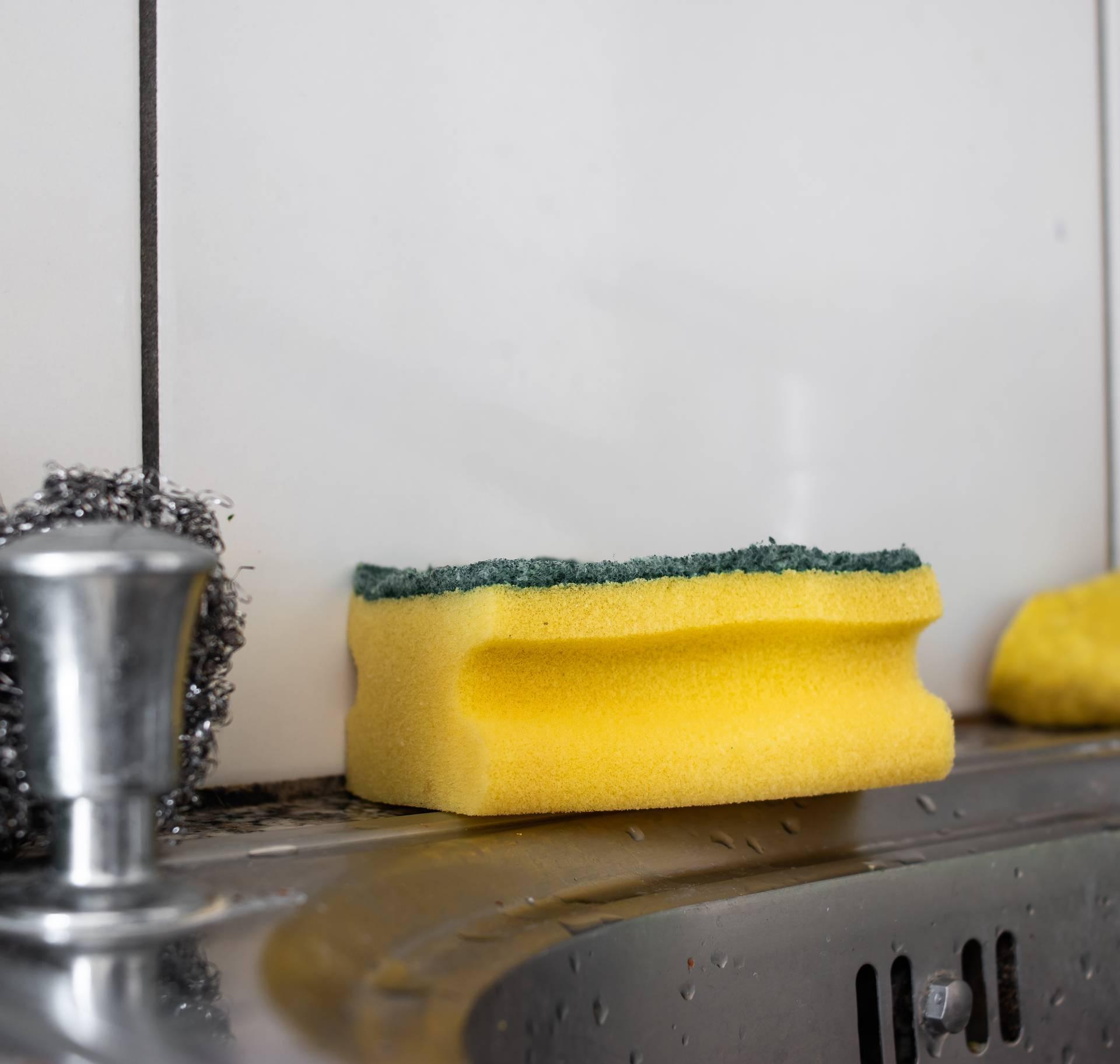 Očistite spužvu od klica i virusa u mikrovalnoj ili perilici posuđa