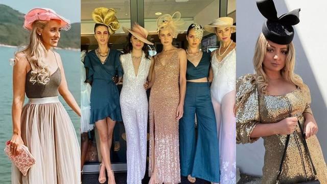 Stylish dame u Melbourneu ukrašene maštovitim šeširima