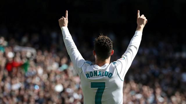 FILE PHOTO: File photo of Cristiano Ronaldo who retained his top spot this week as world's most popular athlete