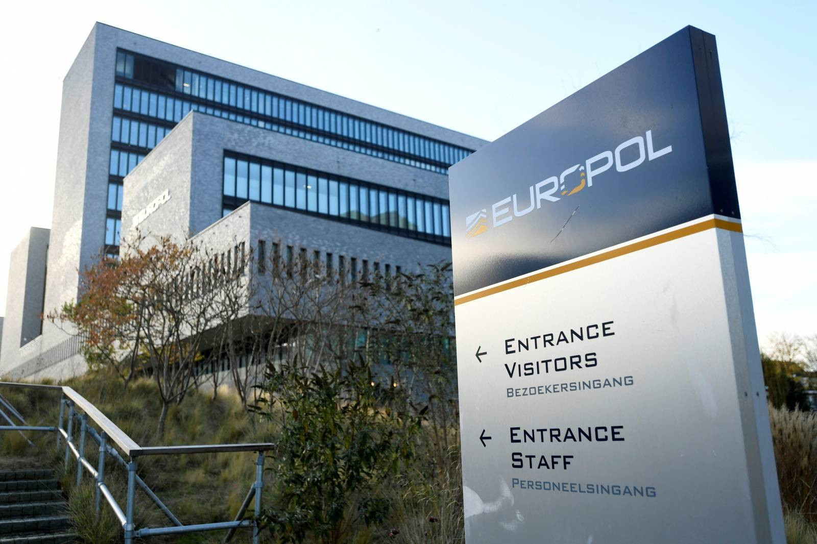 Europol headquarters is pictured in The Hague