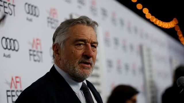 "Cast member Robert De Niro is interviewed at the premiere of ""The Comedian"" during AFI Fest at the Egyptian Theatre in Los Angeles"