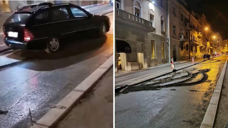 'Ukleta' ulica u Splitu: Autom ušla u svježi beton i 'potonula'