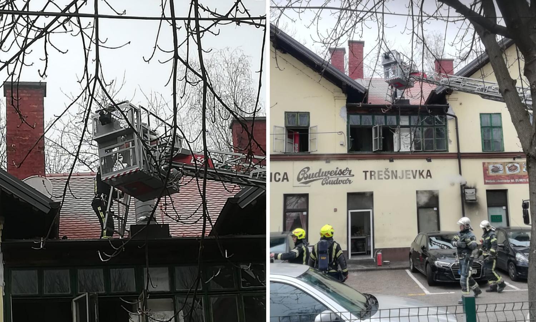 Zapalio se dimnjak: Četvrti put gasili krov pivnice u Zagrebu