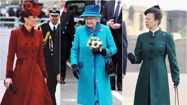 Kate, Elizabeta, Anne: Dame s dvora vole kapute u bojama