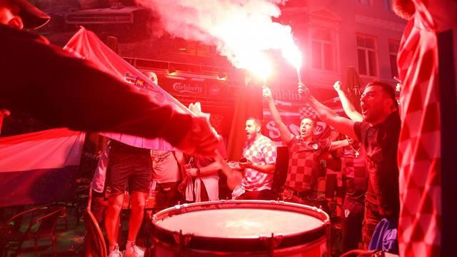Hrvatski navijači u Kopenhagenu napravili pravu feštu