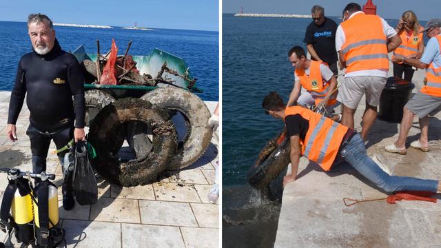 Ronioci čistili porečko podmorje i očistili oko dva kilometra rive