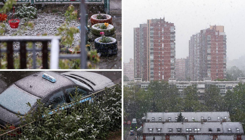 Ludo vrijeme! Jučer u Zagrebu 23 stupnja, a sada pada snijeg