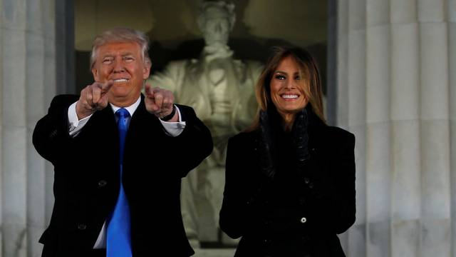 Trump takes part in a Make America Great Again welcome concert in Washington