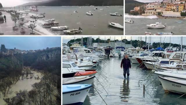 More se prelilo po rivama, udari vjetra idu preko čak 130 km/h!