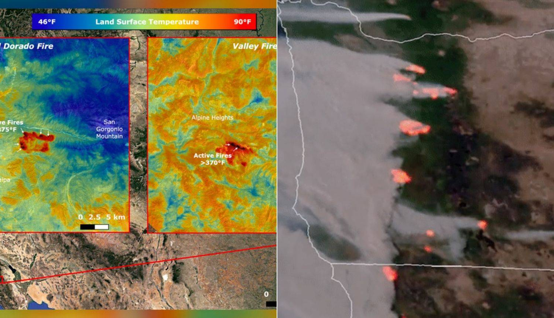 Požar se vidi iz svemira: NASA izmjerila temperaturu vatrene stihije u Americi iz ISS-a