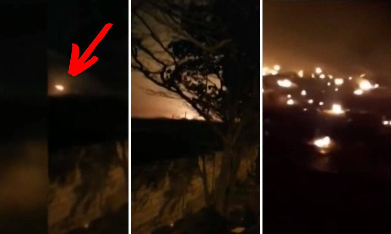 Snimka pada aviona: Vatra je obasjala nebo kod Teherana