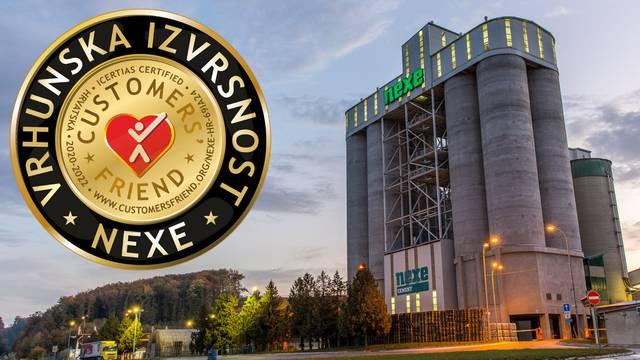 "Tvornica cementa Nexe d.d. nagrađena certifikatom ""Prijatelj kupaca"""