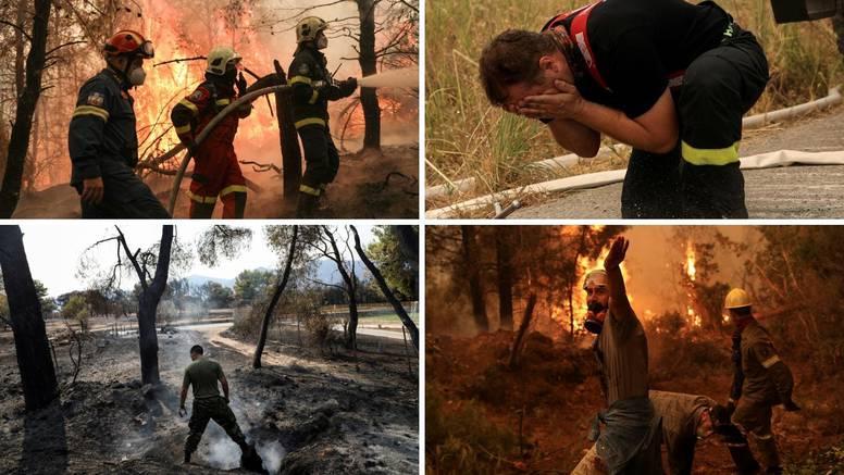 VIDEO Drama u Grčkoj: 'Nema šanse da napustimo domove, ostajemo! Borimo se s vatrom'