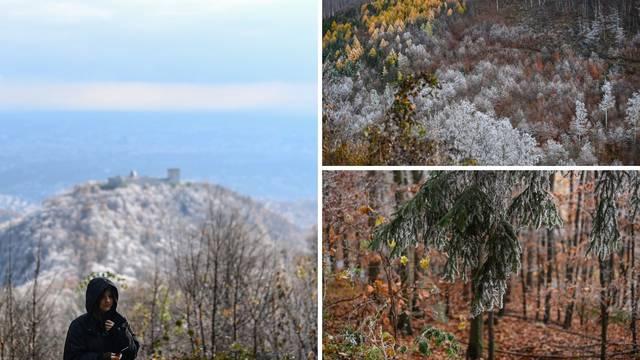Prekrasni prizori na Medvednici - pogledajte spoj jeseni i zime