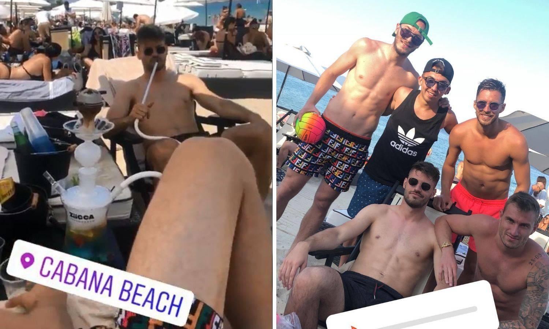 Petković puši nargilu i uživa s djevojkom i suigračem u Grčkoj