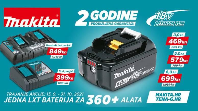 Velika promocija Makita LXT 18v baterija i punjača: Jedna baterija za više od 360 alata