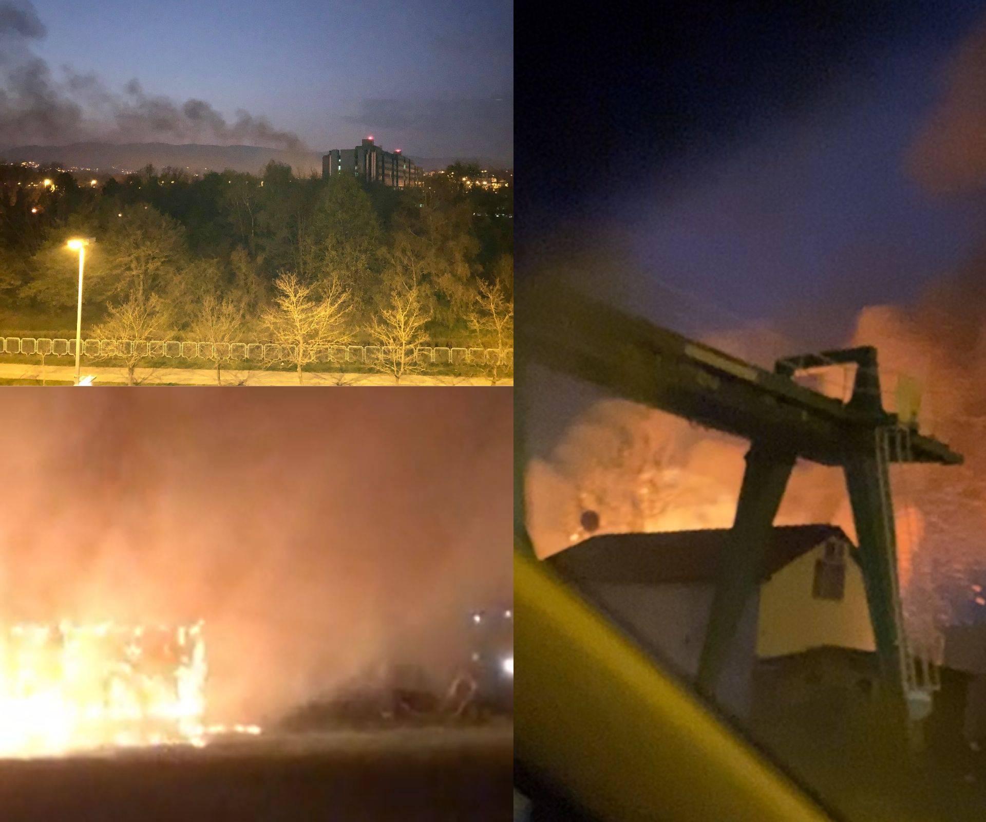 Požar u blizini KB Dubrava: Gust dim prestrašio građane