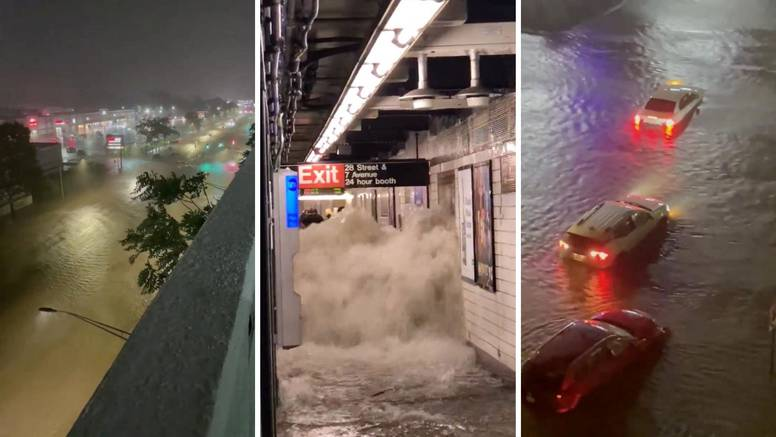 Kaos u New Yorku: Podzemna i ulice pod vodom, proglasili su izvanredno stanje zbog Ide