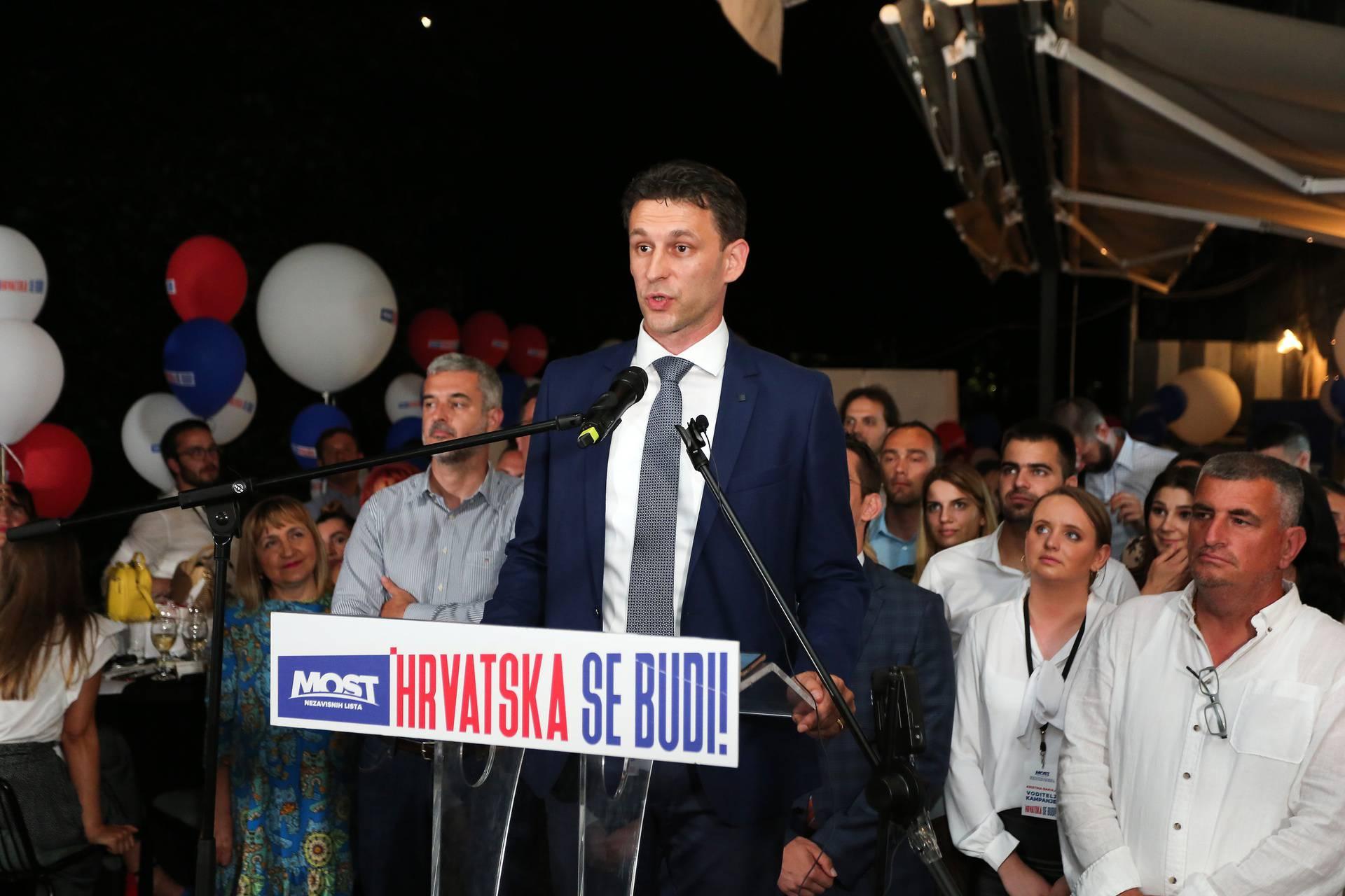 Zagreb: Doček izbornih rezultata u stožeru Mosta