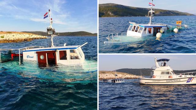 Potonuo brod kod Drvenika: 18 putnika su spasili neozlijeđene