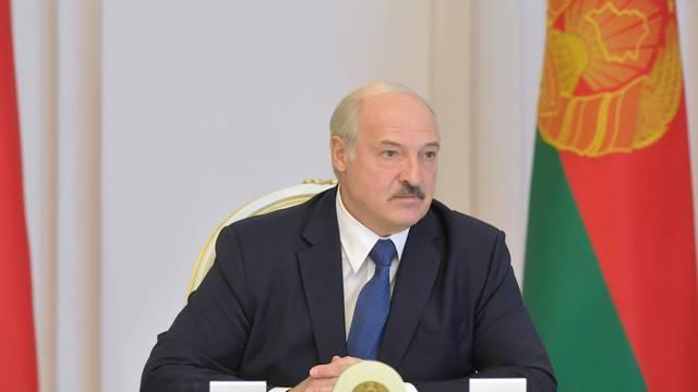 Belarusian President Lukashenko chairs a meeting in Minsk