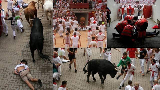 U zadnjoj utrci u Pamploni bikovi su proboli troje ljudi